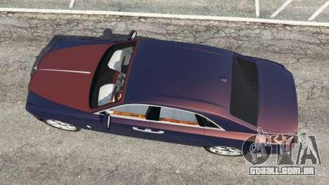 GTA 5 Rolls Royce Ghost 2014 v1.2 voltar vista