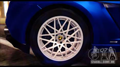 Lamborghini Gallardo LP560 para GTA San Andreas traseira esquerda vista