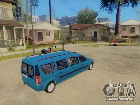 Lada Largus 7-door para GTA San Andreas esquerda vista