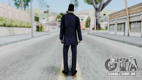 GMAN v2 from Half Life para GTA San Andreas terceira tela
