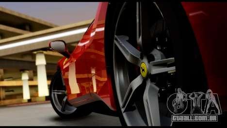 Ferrari 488 GTB 2016 para GTA San Andreas vista traseira