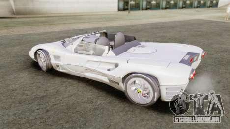 Ferrari P7 Yrid para GTA San Andreas traseira esquerda vista