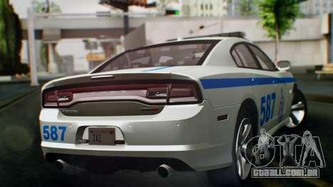 Dodge Charger SRT8 2015 Police Malaysia para GTA San Andreas esquerda vista