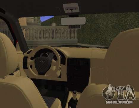 VAZ 2110 KBR para GTA San Andreas vista traseira