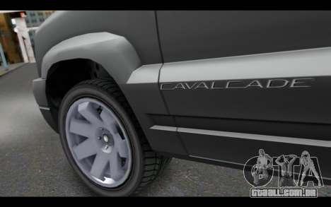 GTA 5 Albany Cavalcade IVF para GTA San Andreas traseira esquerda vista