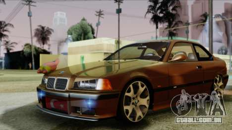 BMW M3 E36 SüvariGaragee para GTA San Andreas traseira esquerda vista