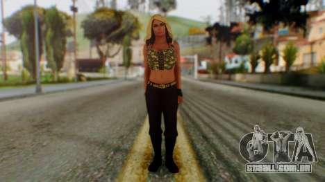 WWE Kaitlyn para GTA San Andreas segunda tela