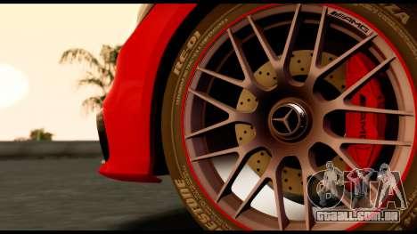 Mercedes-Benz CLS63 AMG 2015 para GTA San Andreas traseira esquerda vista