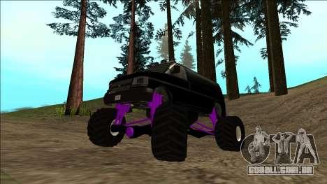 GTA 5 Vapid Speedo Monster Truck para GTA San Andreas vista inferior