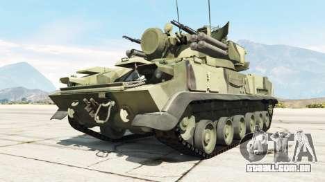 GTA 5 2К22 Tunguska traseira direita vista lateral