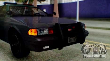 GTA 5 Vapid Stanier II Police IVF para GTA San Andreas vista traseira