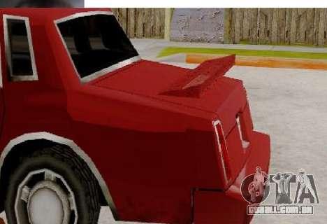 TahomaNew v1.0 para GTA San Andreas traseira esquerda vista