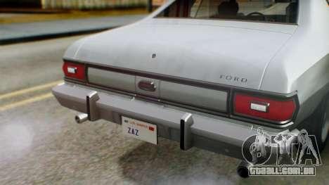Ford Gran Torino 1974 IVF para GTA San Andreas vista superior