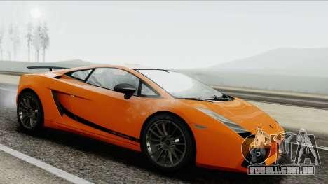 Lamborghini Gallardo Superleggera para GTA San Andreas traseira esquerda vista