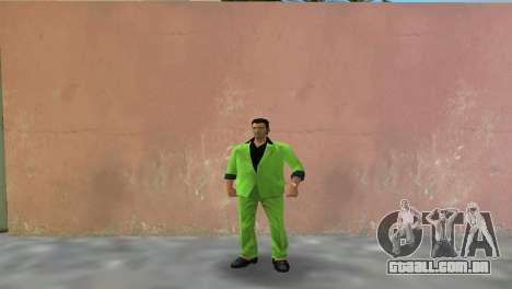 Terno verde para Tommy para GTA Vice City