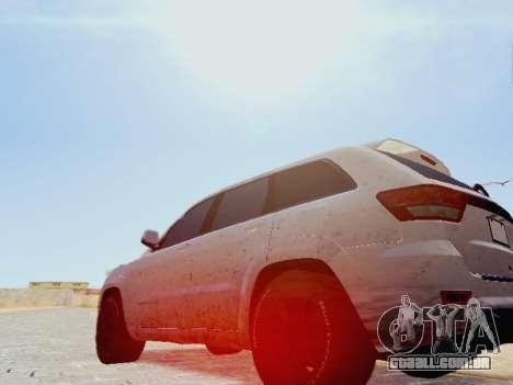Jeep Grand Cherokee SRT8 2013 Tuning para GTA San Andreas esquerda vista