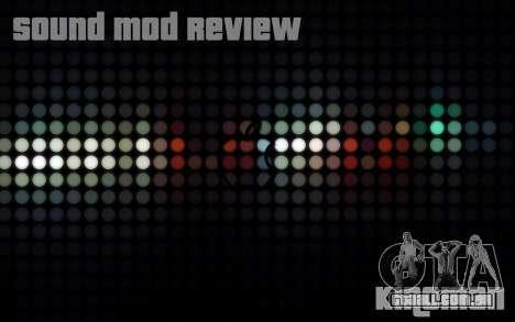 SA Sound Overhaul Mod 2013 para GTA San Andreas