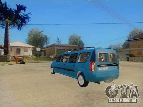 Lada Largus 7-door para GTA San Andreas vista direita