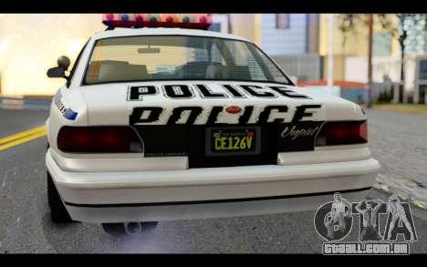 GTA 5 Curie IV White para GTA San Andreas vista traseira