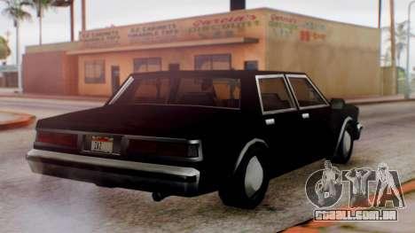 Unmarked Police Cutscene Car Normal para GTA San Andreas vista direita
