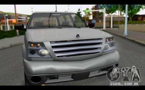 GTA 5 Albany Cavalcade IVF para GTA San Andreas vista direita