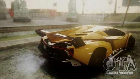 Lamborghini Veneno 2012 para GTA San Andreas vista direita