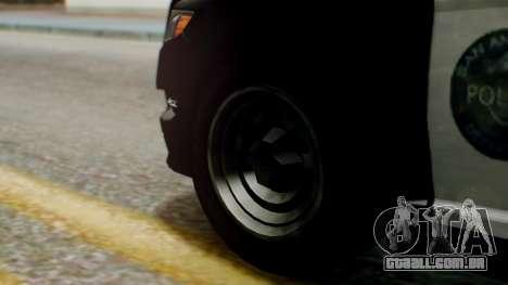 GTA 5 Police LS para GTA San Andreas traseira esquerda vista