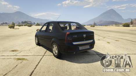 GTA 5 2008 Dacia Logan v2.0 FINAL traseira vista lateral esquerda