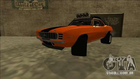 Chevrolet Camaro SS Rusty Rebel para GTA San Andreas traseira esquerda vista