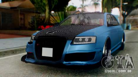 Audi RS6 Avant 2009 para GTA San Andreas esquerda vista