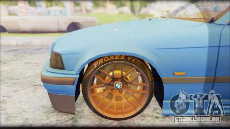 BMW M3 E36 Stanced-Hella para GTA San Andreas vista direita