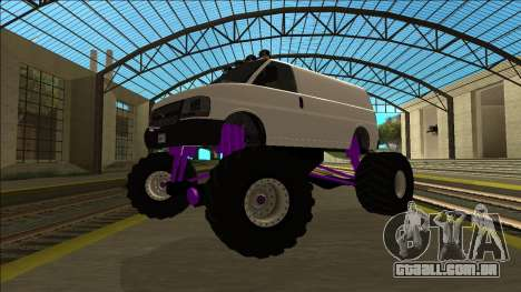 GTA 5 Vapid Speedo Monster Truck para GTA San Andreas vista traseira