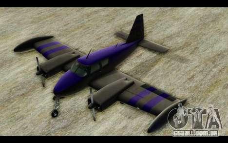 GTA 5 Western Company Cuban 800 para GTA San Andreas traseira esquerda vista