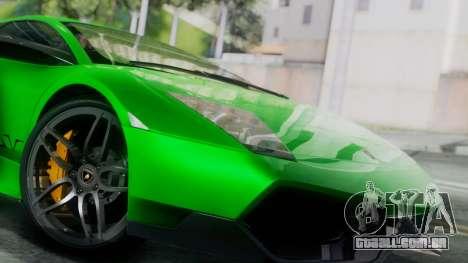 Lamborghini Murcielago LP670-4 SV 2010 para GTA San Andreas traseira esquerda vista