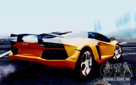 Lamborghini Aventador Mansory Carbonado Color para GTA San Andreas esquerda vista