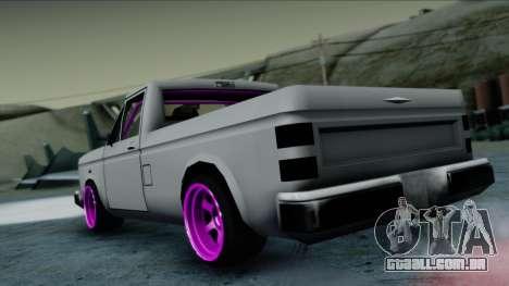 Bobcat Drift para GTA San Andreas esquerda vista
