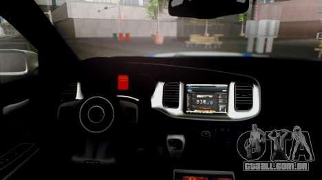 Dodge Charger SRT8 2015 Police Malaysia para GTA San Andreas vista direita