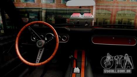 Ford Mustang 1966 Chrome Edition v2 Monster para GTA San Andreas vista interior