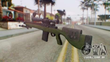 ARMA2 M14 Dmr Sniper para GTA San Andreas segunda tela