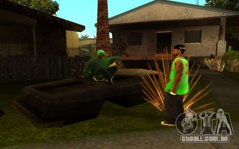O avivamento da rua ganton para GTA San Andreas quinto tela