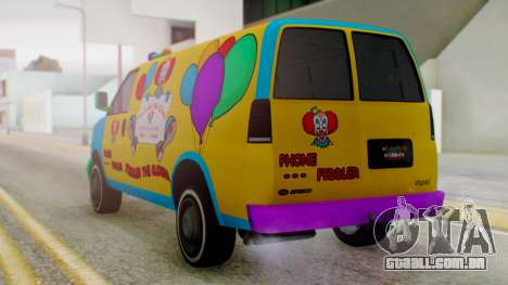 GTA 5 Vapid Clown Van para GTA San Andreas esquerda vista