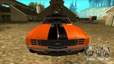 Chevrolet Camaro SS Rusty Rebel para GTA San Andreas vista inferior
