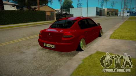 Renault Megane Ukrainian Stance para GTA San Andreas traseira esquerda vista