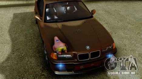 BMW M3 E36 SüvariGaragee para GTA San Andreas vista direita