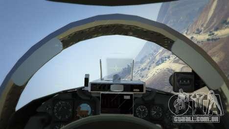 GTA 5 Northrop F-5E Tiger II FAB quarto screenshot