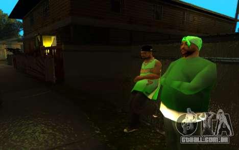 O avivamento da rua ganton para GTA San Andreas terceira tela