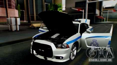 Dodge Charger SRT8 2015 Police Malaysia para GTA San Andreas vista traseira