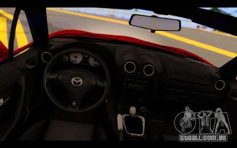 Mazda MX-5 para GTA San Andreas vista direita