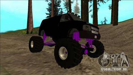GTA 5 Vapid Speedo Monster Truck para GTA San Andreas vista superior