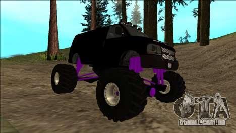 GTA 5 Vapid Speedo Monster Truck para GTA San Andreas vista superior